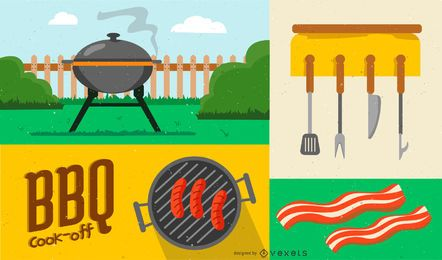 BBQ Elements Design Composition
