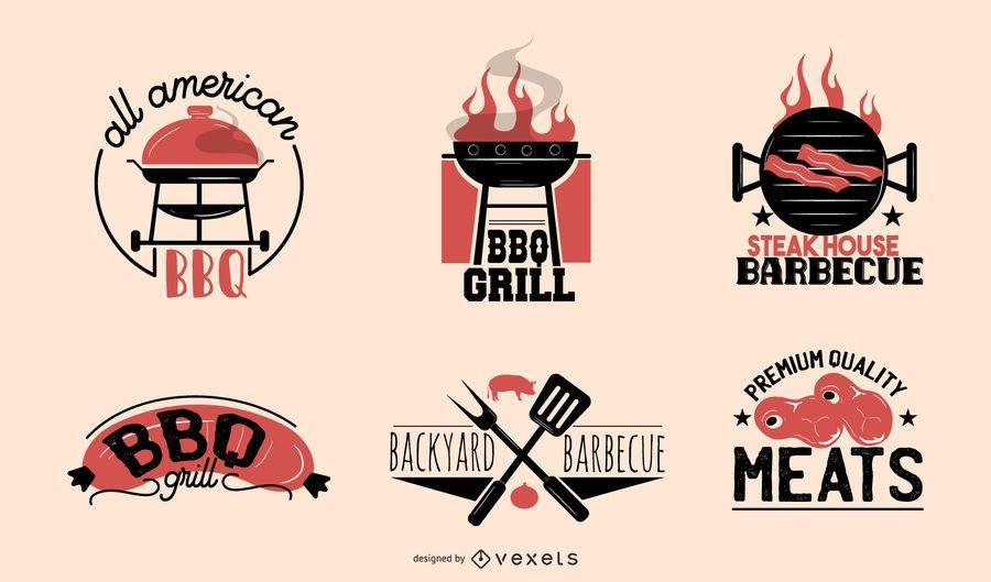 BBQ labels set