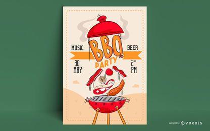 Modelo de cartaz para churrasco