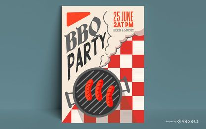 BBQ Party Plakatgestaltung
