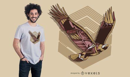 Design de t-shirt de águia steampunk