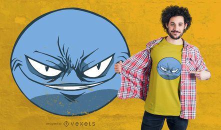Design de camiseta emoji sorridente