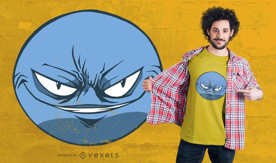 Grinsender Emoji T-Shirt Entwurf