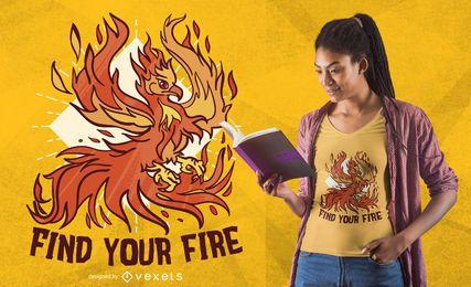 Design de t-shirt de fogo Phoenix
