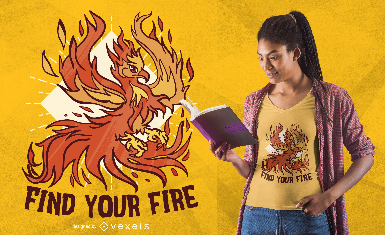 Phoenix fire t-shirt design