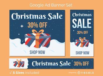 Conjunto de banner de presente de venda de Natal