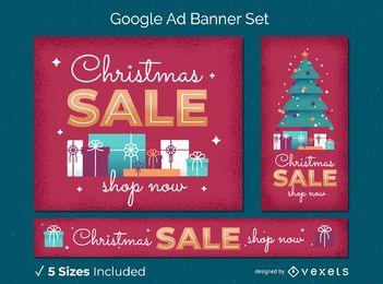 Conjunto de banner da web de venda de Natal