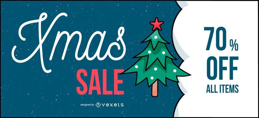 Xmas sale banner design