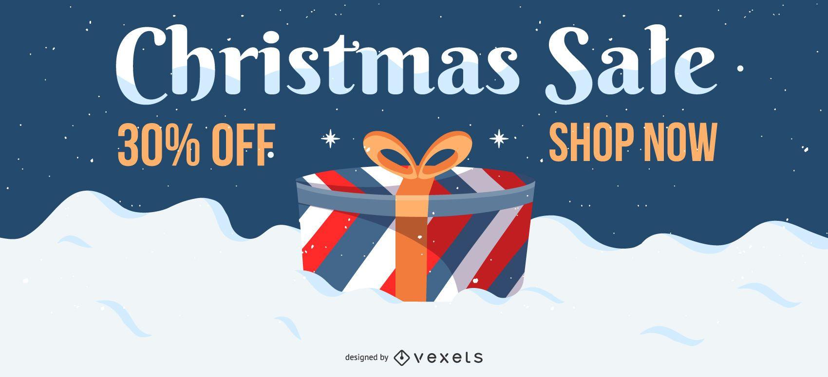 Diseño de regalo de venta de Navidad