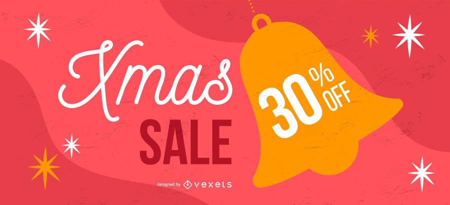 Christmas sale bell banner