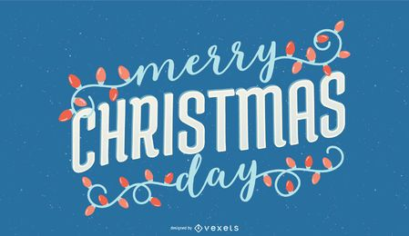Merry christmas day lettering