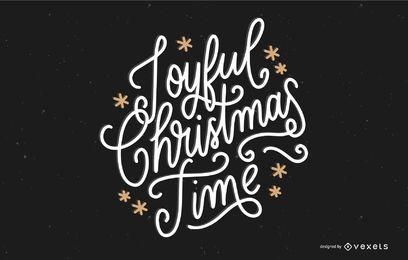 Letras de tempo de Natal alegre