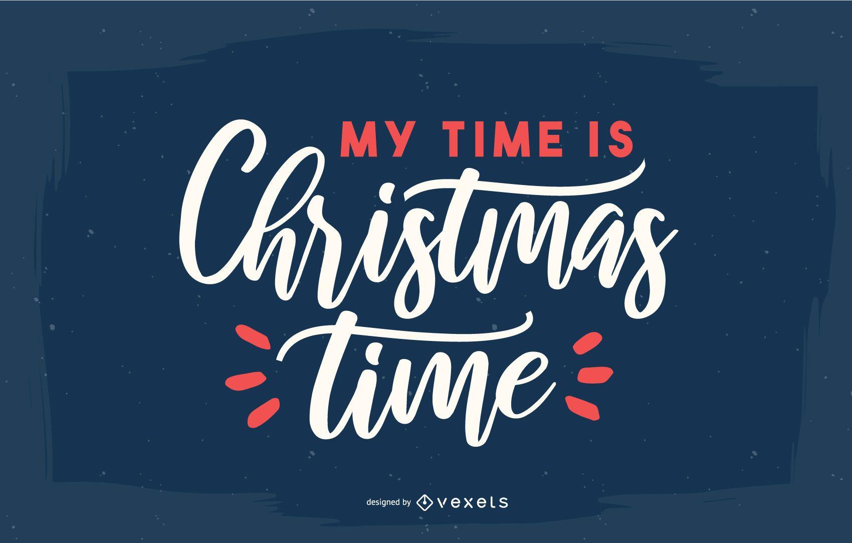 Christmas time lettering design