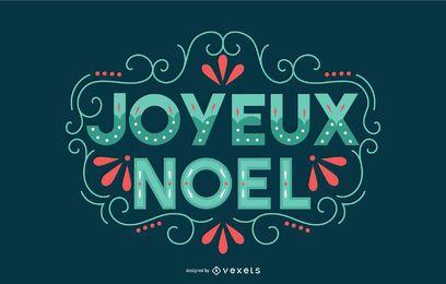 Banner de letras de navidad francés