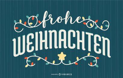 Frohe Weihnachten Deutsches Zitat Banner