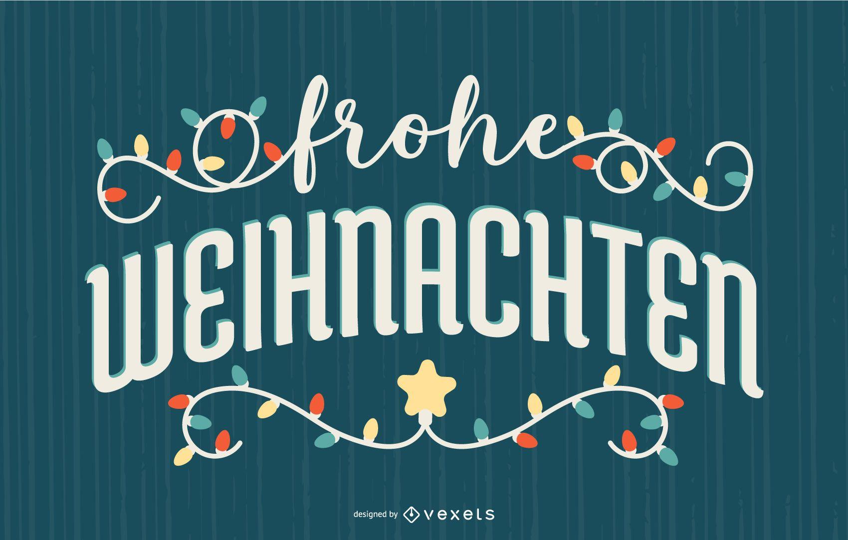 Banner de cita alemana de feliz Navidad