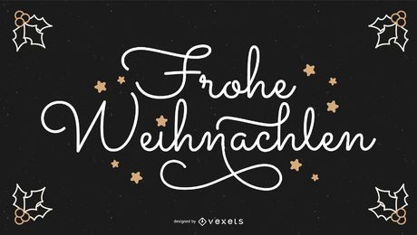 Frohe Weihnachten German Christmas Quote Banner