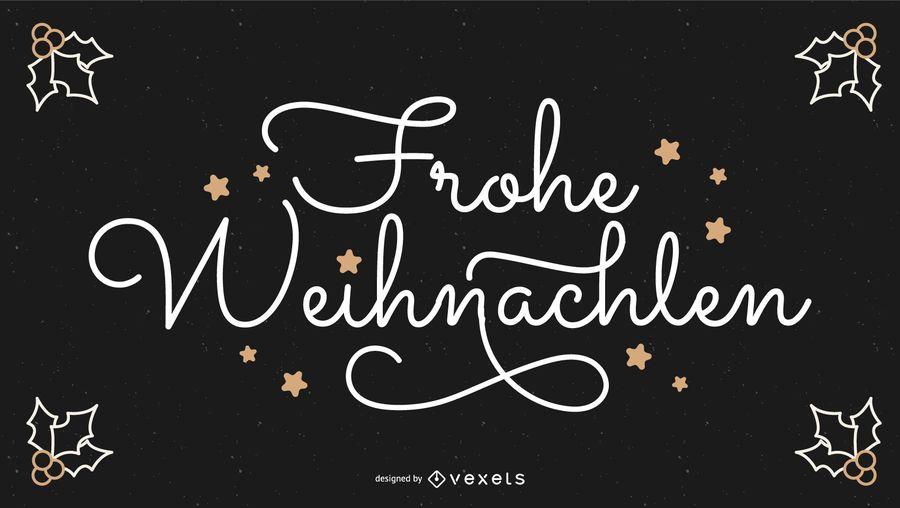Frohe Weihnachten Deutsches Weihnachtszitat Banner
