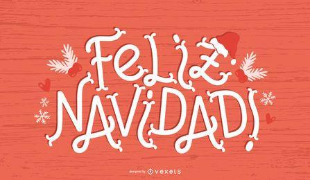 Banner de cita de Navidad española Feliz Navidad