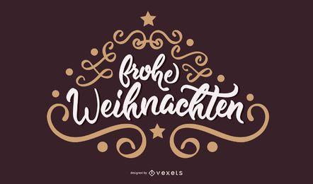 Frohe Weihnachten Banner de Navidad alemán