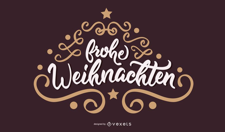 Schriftzug Frohe Weihnachten Beleuchtet.Frohe Weihnachten Deutsche Weihnachtsbanner Vektor Download