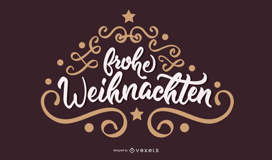 Frohe Weihnachten Deutsches Weihnachtsbanner