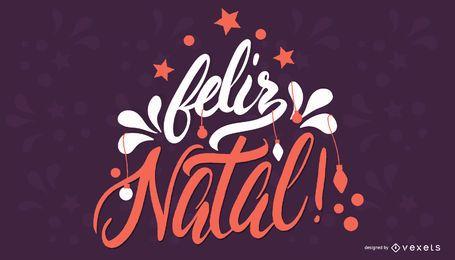 Feliz Natal Portugués Navidad Banner