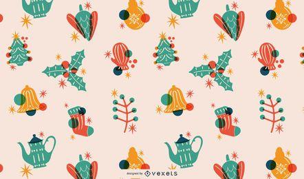 Weihnachten Elemente Tileable Muster