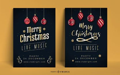 Christmas Poster Invitation Set