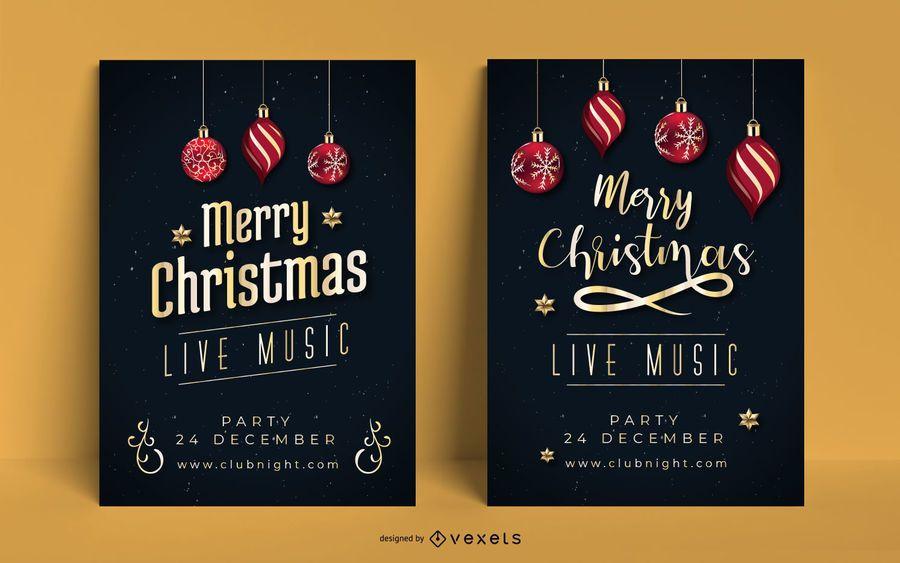 Christmas Poster Invitation Set