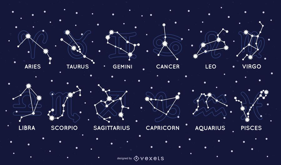 Zodiac constellation set