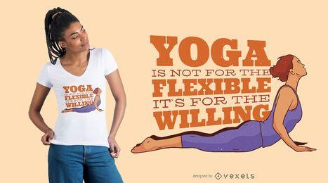 Design de t-shirt de mulher de citação de ioga