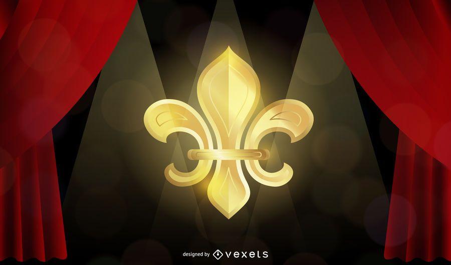Golden Fleur-de-lis Theatre Design