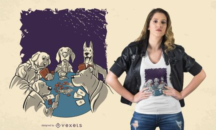 Diseño de camiseta Animal de Poker Dogs