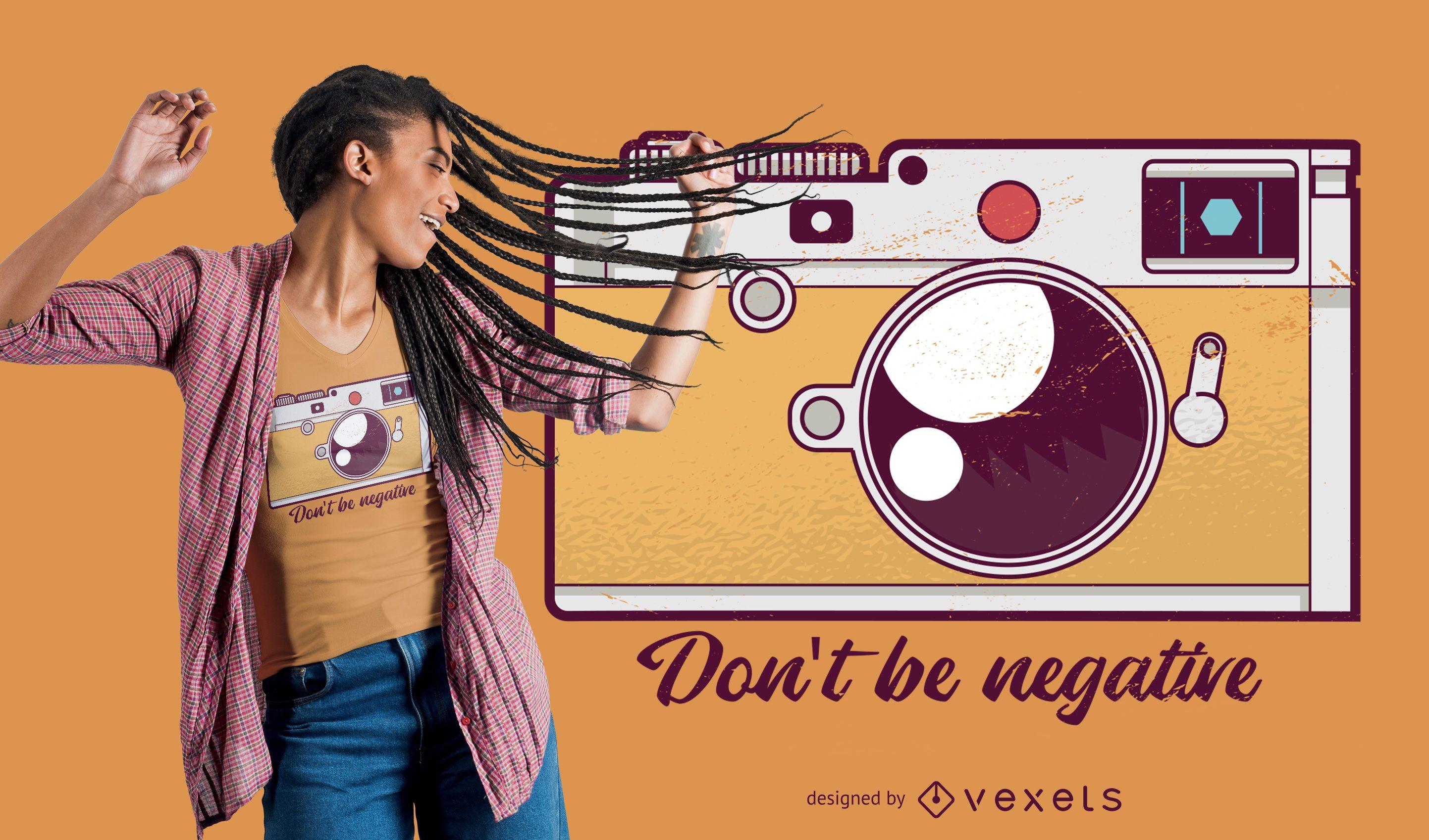 Negative t-shirt design