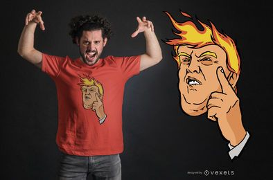 Diseño de camiseta Trump fire