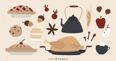 Thanksgiving-Elemente-Auflistung