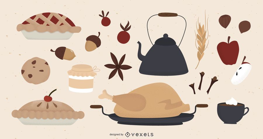 Thanksgiving elements collection
