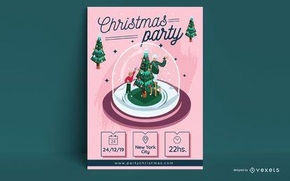 Design de cartaz de convite para festa de Natal