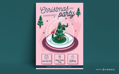 Weihnachtsfeier Einladung Plakatgestaltung
