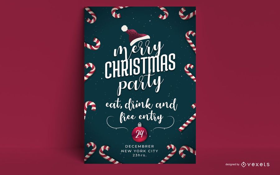 Merry Christmas Party Invitation Design