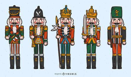Conjunto de personajes de cascanueces