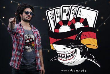 Diseño de camiseta Poker Shark Germany