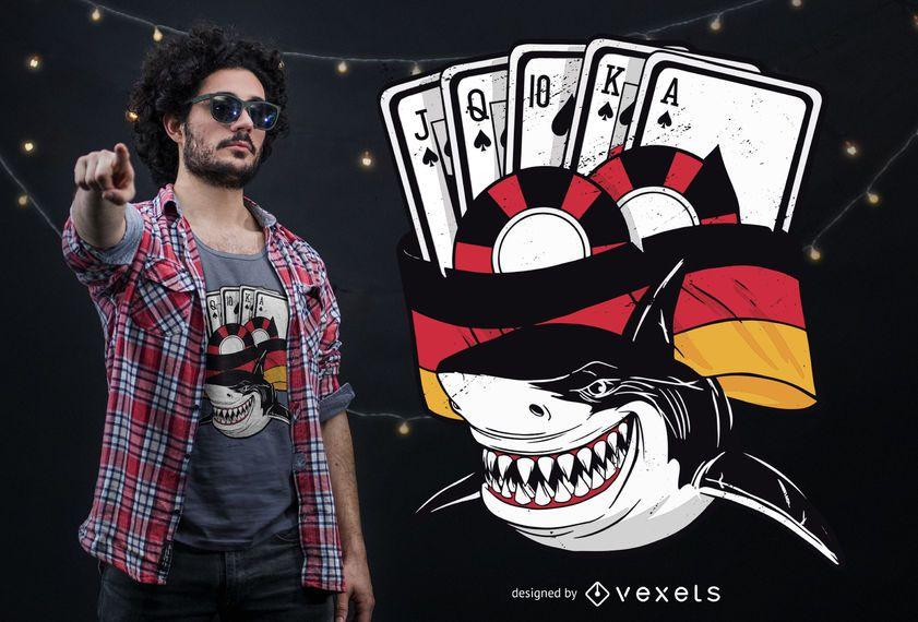 Diseño de camiseta de Poker Shark Germany