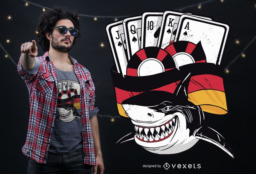 Poker Shark Germany T-shirt Design