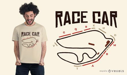 Race Car Circuit T-shirt Design