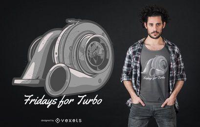 Diseño de camiseta de cotización de turbocompresor