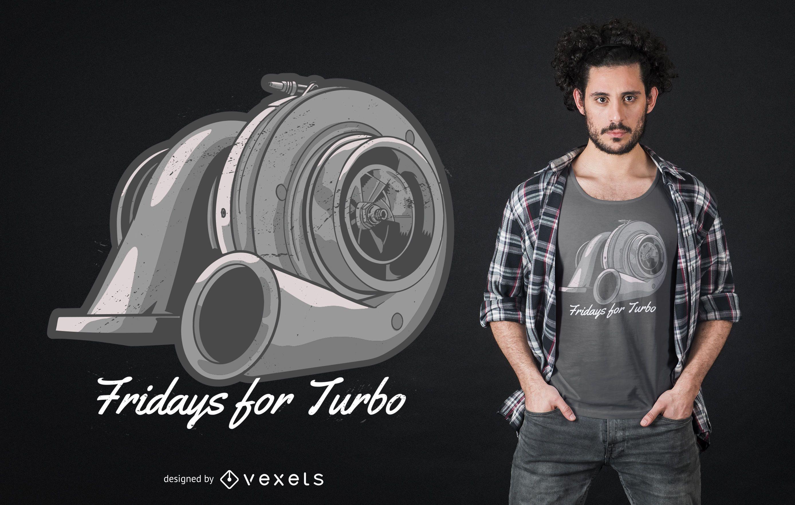 Design de camiseta de cotação de turbo compressor