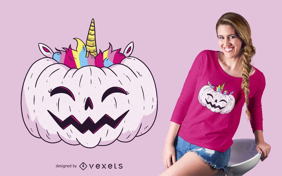 Unicorn Pumpkin T-shirt Design
