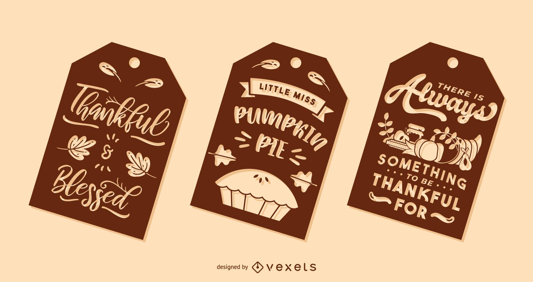 Thanksgiving tag set